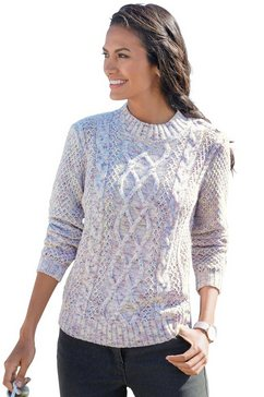 classic basics trui met staande kraag trui beige