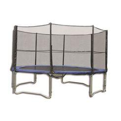 trampolinenet, spartan, »vervangend net voor trampoline 305 cm ø - ø 460 cm«, in 5 afm. bruin