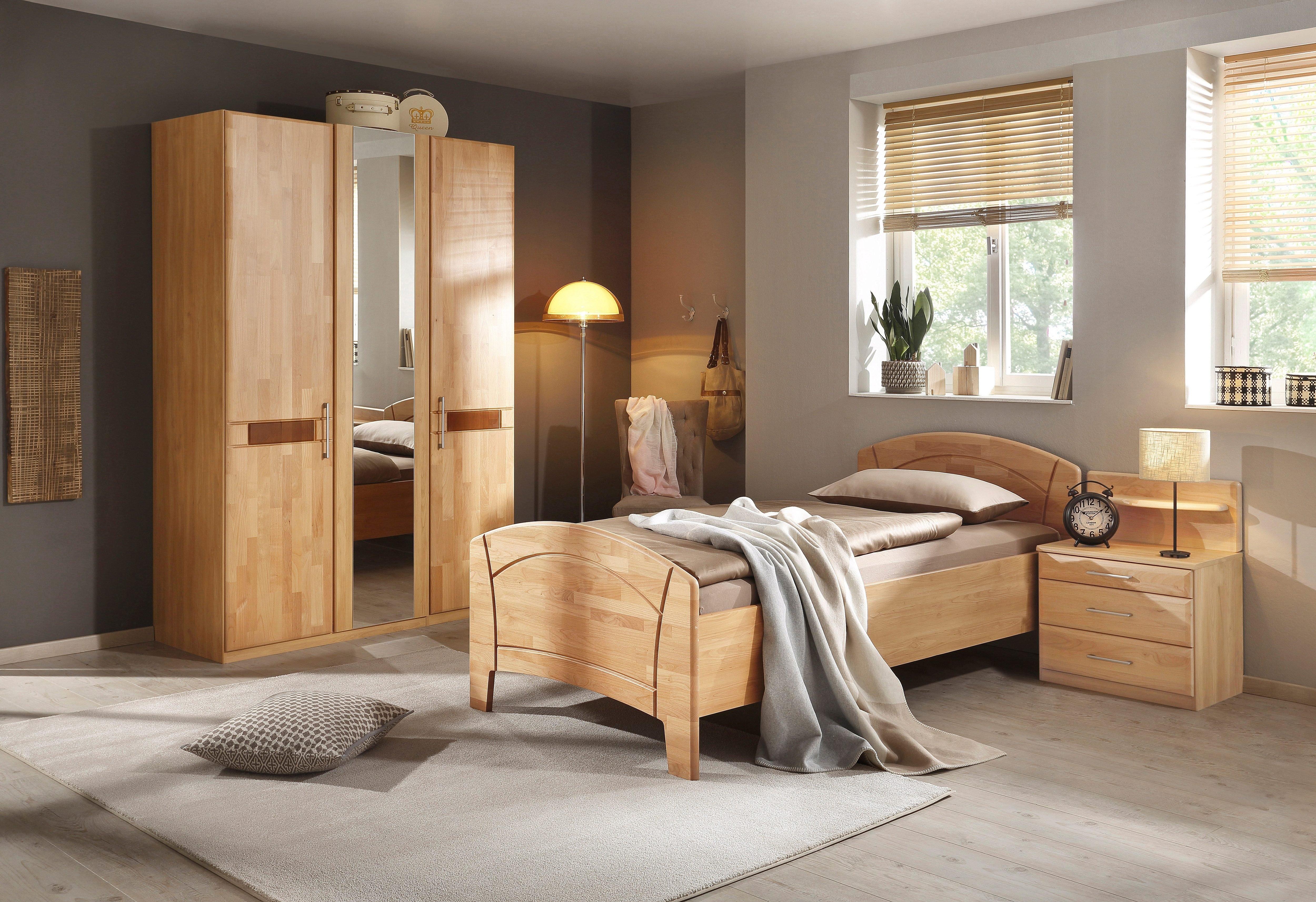 rauch BLACK slaapkamerserie Sarah met bed 100x200 cm en 2- of 3-deurs kast (set, 4 stuks) in de webshop van OTTO kopen