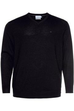 calvin klein trui met v-hals bt-superior wool v neck sweater zwart