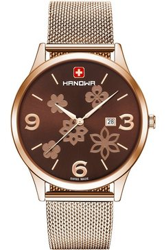 hanowa zwitsers horloge nature, 16-3085.09.005 goud