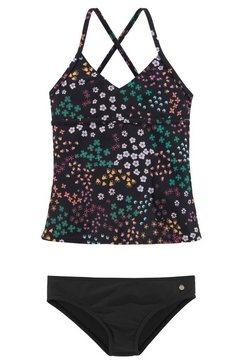 s.oliver red label beachwear tankini met bloemenprint zwart