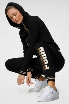puma joggingpak women metallic suit (set, 2-delig) zwart