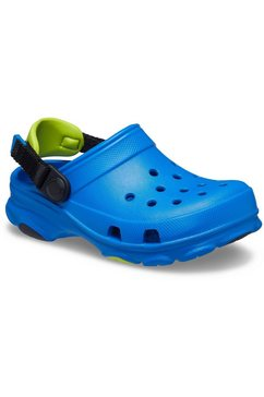 crocs clogs bright cobalt classic all-terrain clog k met contrastkleurig hielriempje blauw