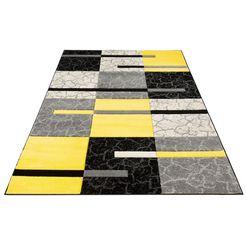 vloerkleed, »lucien«, my home, rechthoekig, hoogte 10 mm, machinaal geweven geel