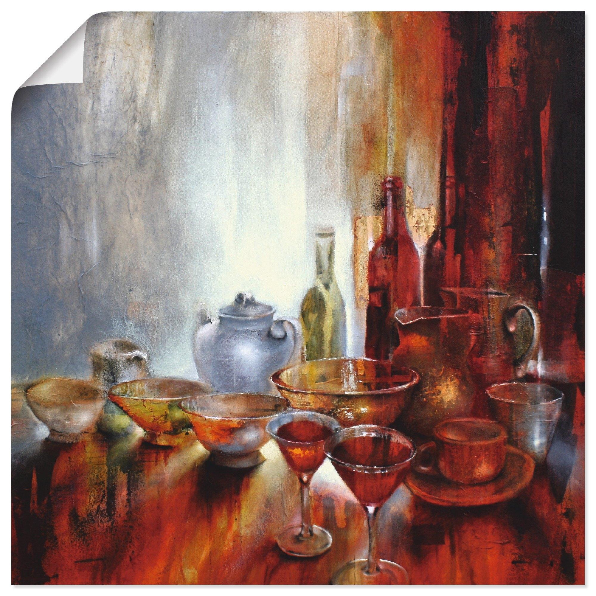 Artland artprint »Stillleben mit grauer Teekanne« goedkoop op otto.nl kopen