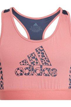 adidas performance sportbustier »girls leo bra« roze