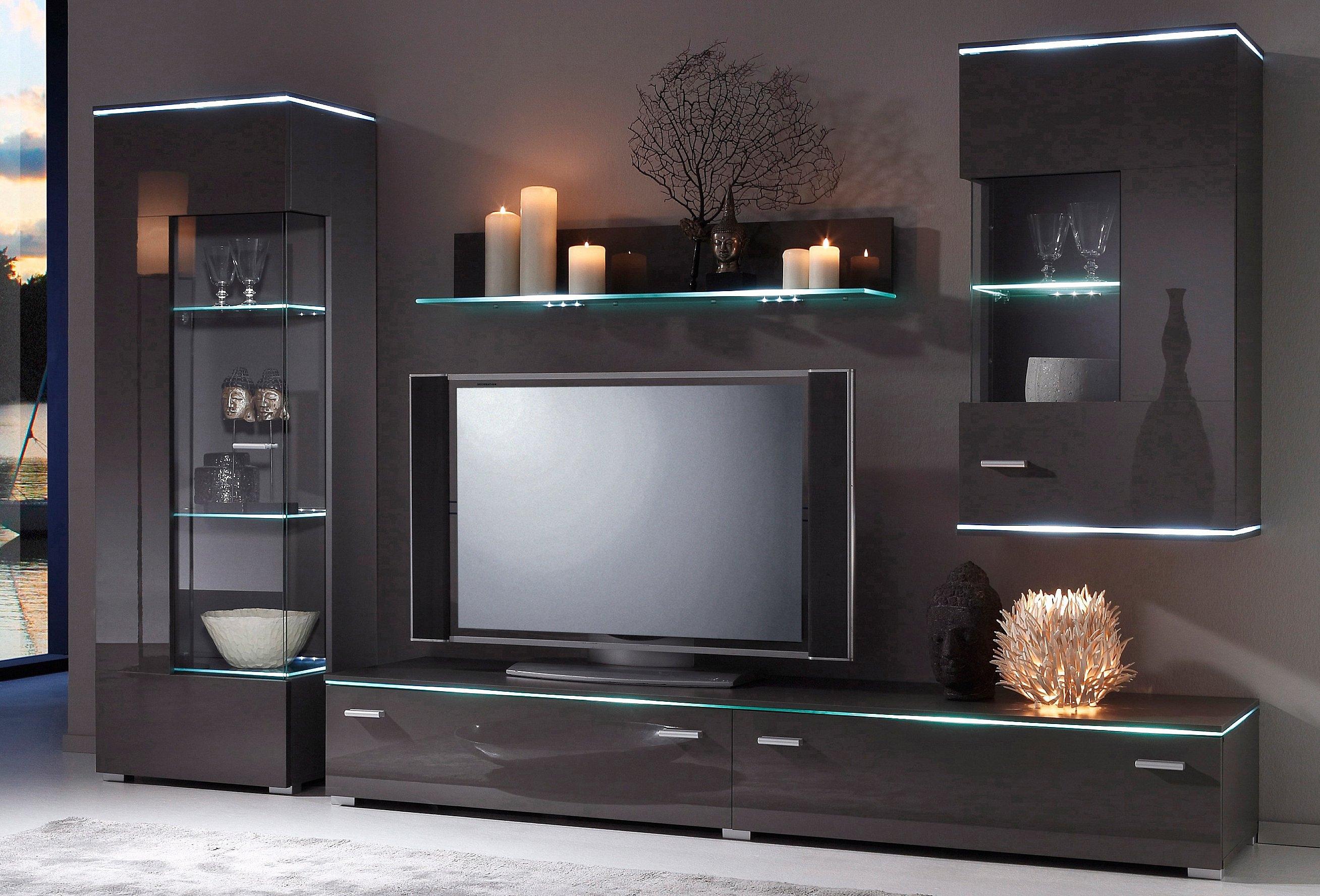 wandmeubel 4 delige set in de online shop otto. Black Bedroom Furniture Sets. Home Design Ideas