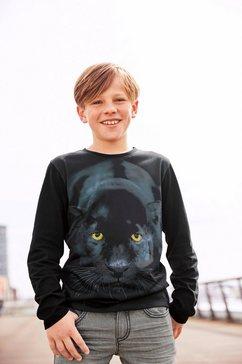 kidsworld shirt met lange mouwen big puma zwart