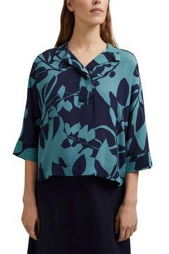 esprit collection gedessineerde blouse blauw