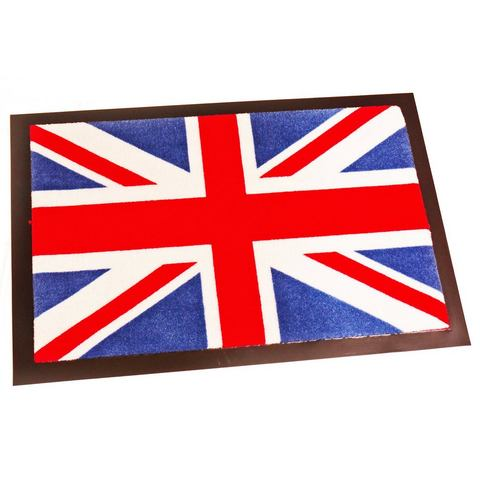 Deurmat Printy Union Jack blauw-rood-wit, Hanse Home Collection