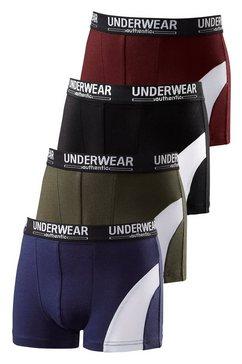 authentic underwear boxershort coole look door witte inzet (4 stuks) multicolor