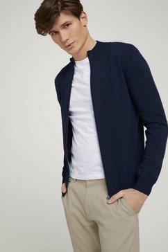 tom tailor cardigan basic jas met opstaande kraag blauw