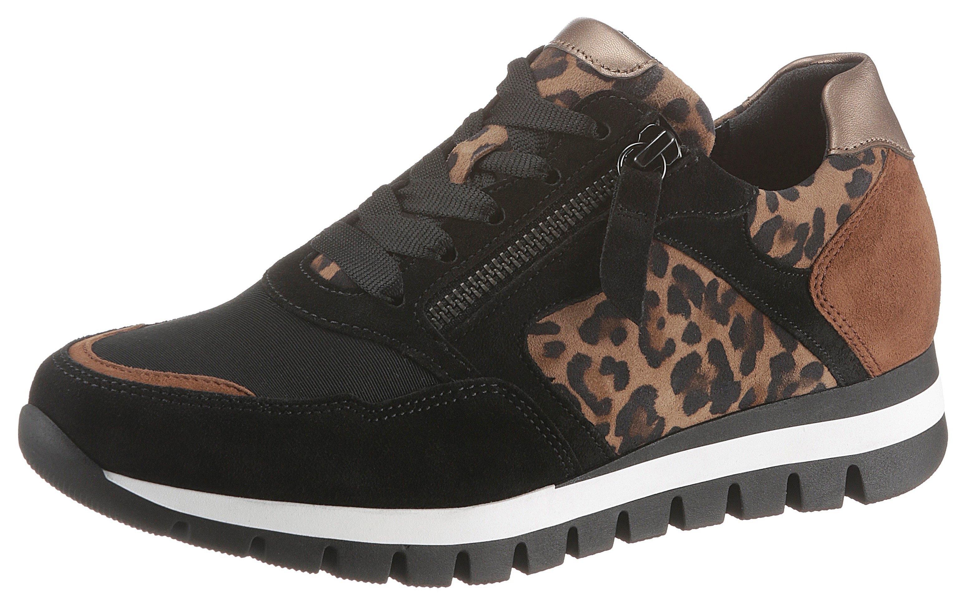 Gabor sneakers met sleehak in animal-look voordelig en veilig online kopen