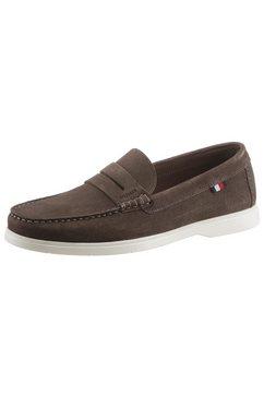 tommy hilfiger mocassins biodegradable loafer shoe in loafers-stijl bruin