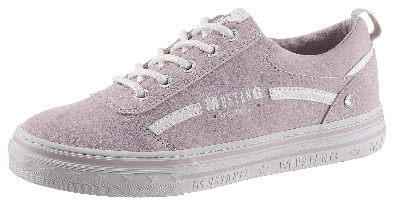 Mustang Shoes Plateausneakers met groot logo-opschrift in de webshop van OTTO kopen
