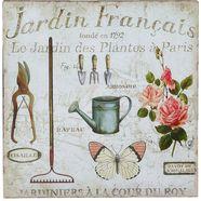 ambiente haus metalen bordje metalen artprint - tuin (zilver gieter) (1 stuk) bruin
