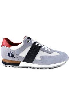 la martina sneakers made in italy met contrastbeleg bij de hiel grijs