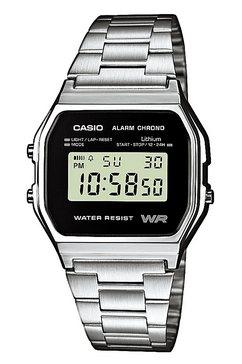casio vintage chronograaf »a158wea-1ef« zilver