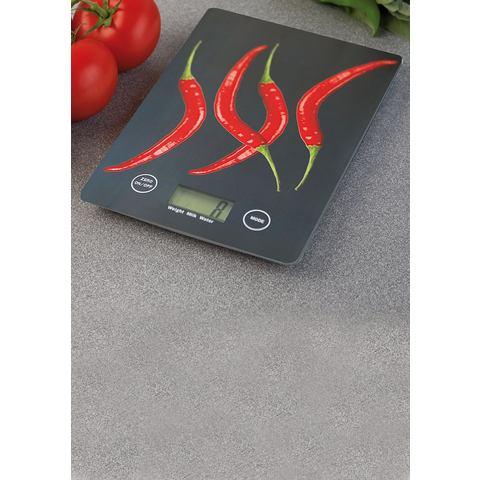 WENKO Digitale slim-keukenweegschaal PEPERONI