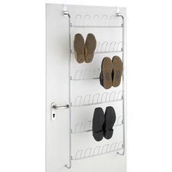 wenko deurrekje voor 18 paar schoenen zilver