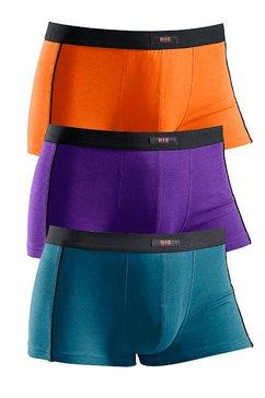 h.i.s sportieve hipster (set van 3) met zwarte piping opzij, »cotton made in africa« oranje
