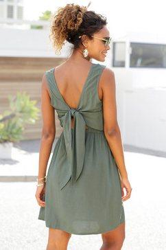 s.oliver beachwear zomerjurk groen