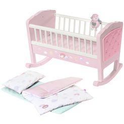 baby annabell »sweet dreams« poppenwieg roze