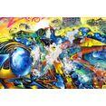 queence artprint op acrylglas kunstwerk multicolor