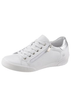cosmos comfort sneakers ritssluiting opzij wit