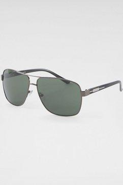 j.jayz zonnebril met rand van metaal (een echte blikvanger) grijs