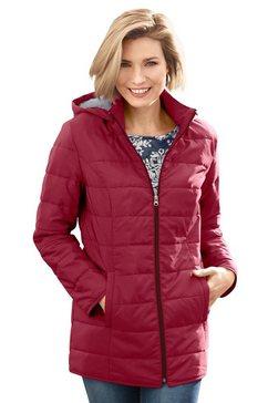classic basics gewatteerde jas met capuchon rood