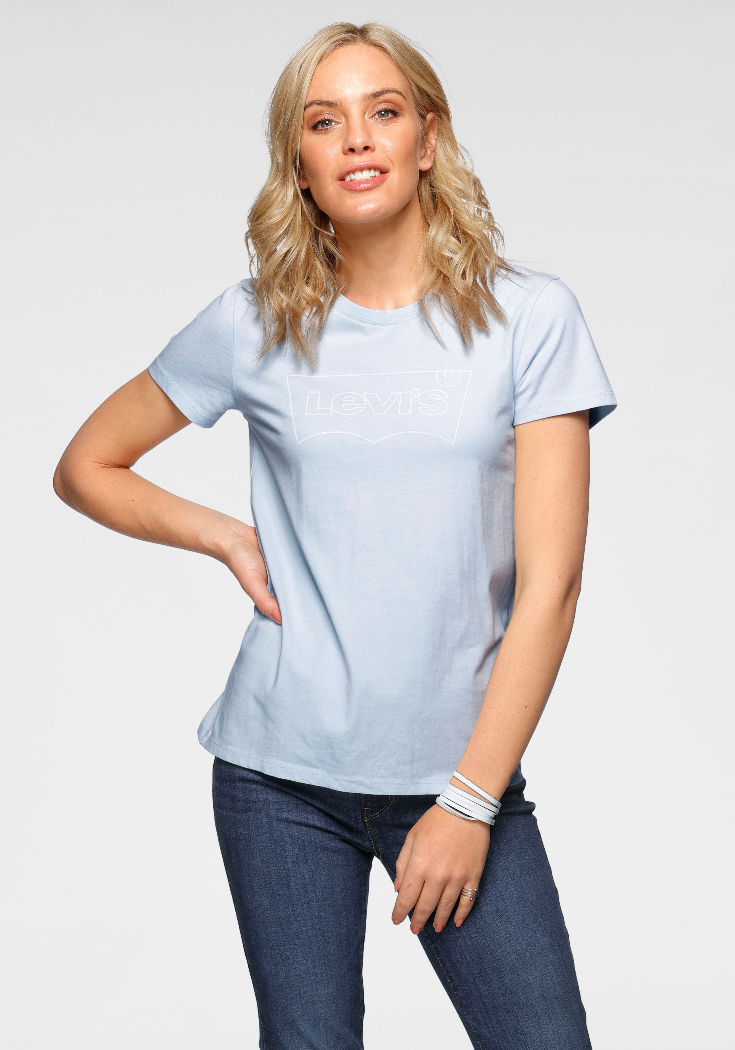 Levi's T-shirt The Perfect Tee met stijlvolle batwing-print bij OTTO online kopen