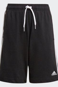 adidas performance short »adidas essentials 3-streifen« zwart