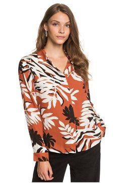 roxy overhemd met lange mouwen white shadow oranje