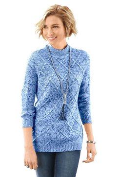 classic basics trui met staande kraag trui blauw