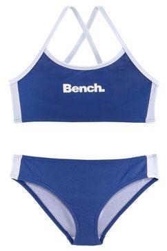 bustierbikini, bench blauw