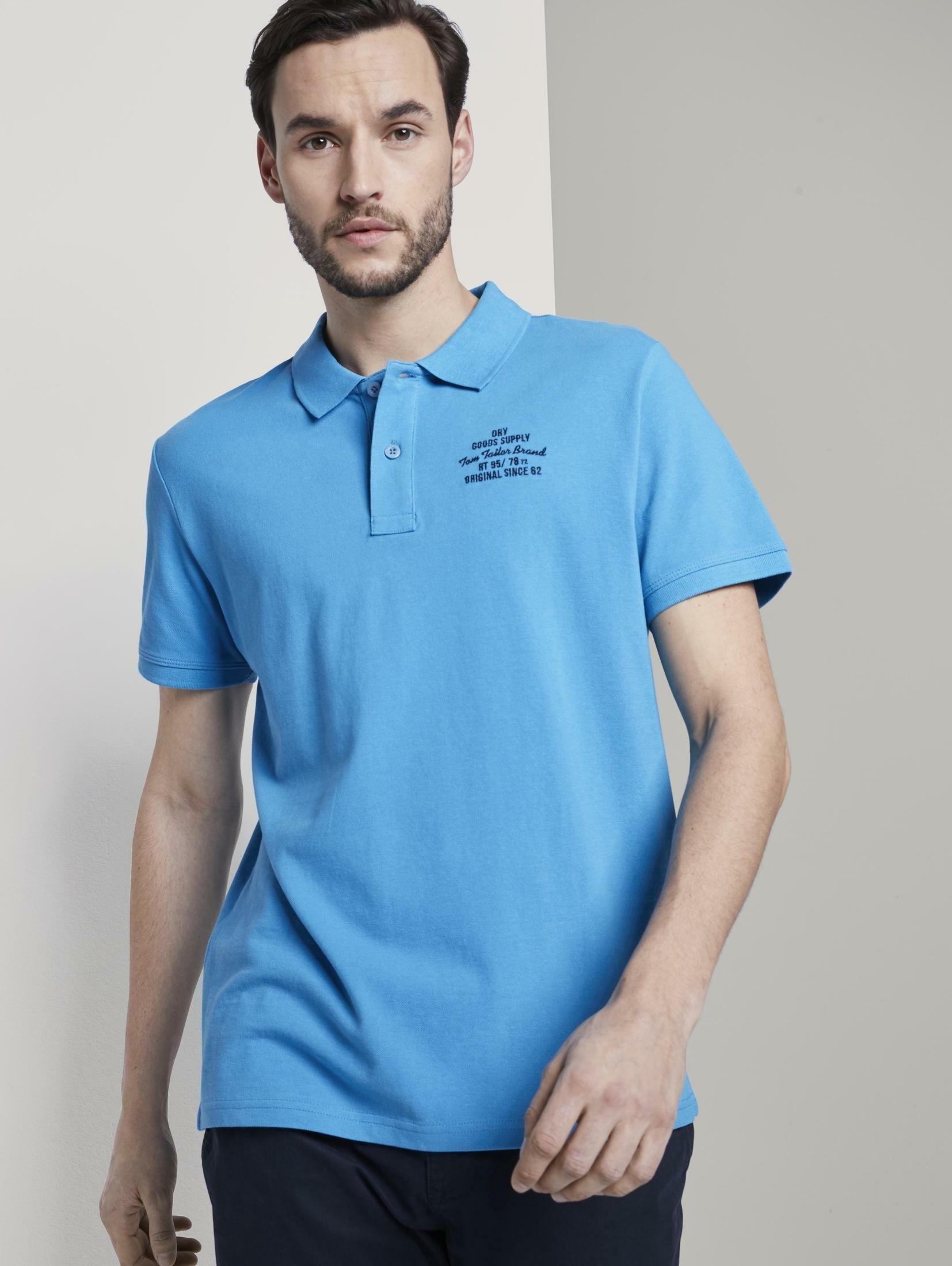 TOM TAILOR poloshirt »Basic Poloshirt mit kleiner Stickerei« - verschillende betaalmethodes