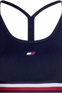 tommy sport sportbustier »light intensity gb stp racer bra« blauw