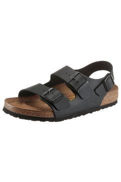 birkenstock sandalen milano met drie verstelbare gespriempjes zwart