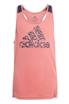 adidas functionele top adidas designed to move leopard tanktop voor kinderen roze