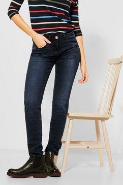 cecil slim fit jeans 5-pocketsstijl blauw