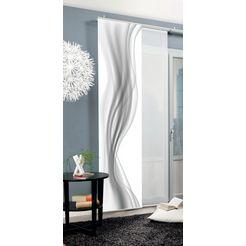 home wohnideen paneelgordijn »schiebevorhang dekostoff digitaldruck 'savu'« 1 stuk grijs