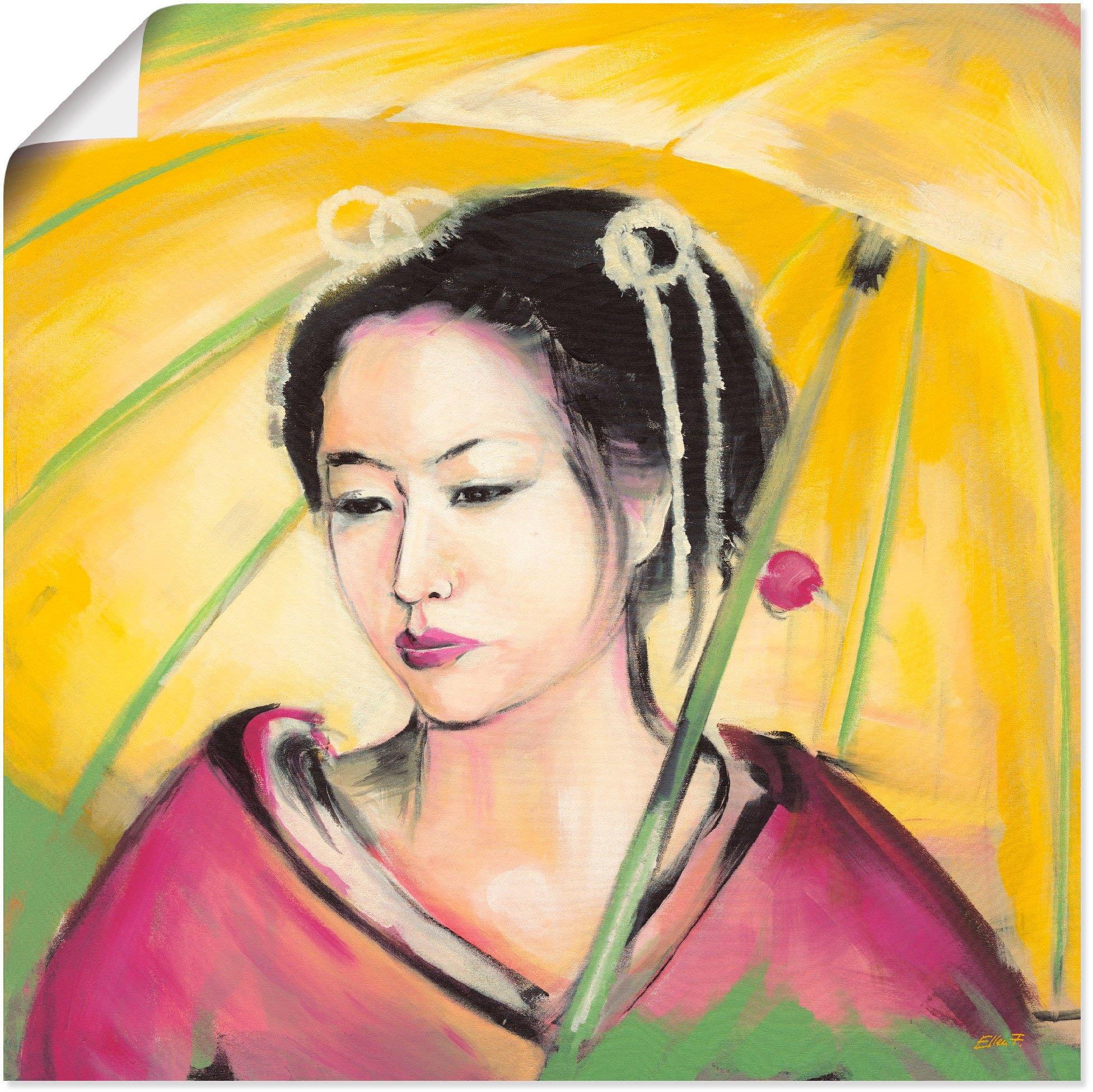 Artland artprint Geisha in vele afmetingen & productsoorten - artprint van aluminium / artprint voor buiten, artprint op linnen, poster, muursticker / wandfolie ook geschikt voor de badkamer (1 stuk) bij OTTO online kopen