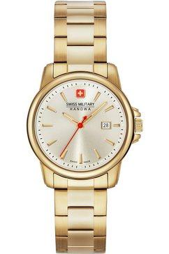 swiss military hanowa zwitsers horloge swiss recruit lady ii, 06-7230.7.02.002 goud