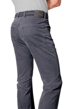 pionier jeans met comfortband grijs