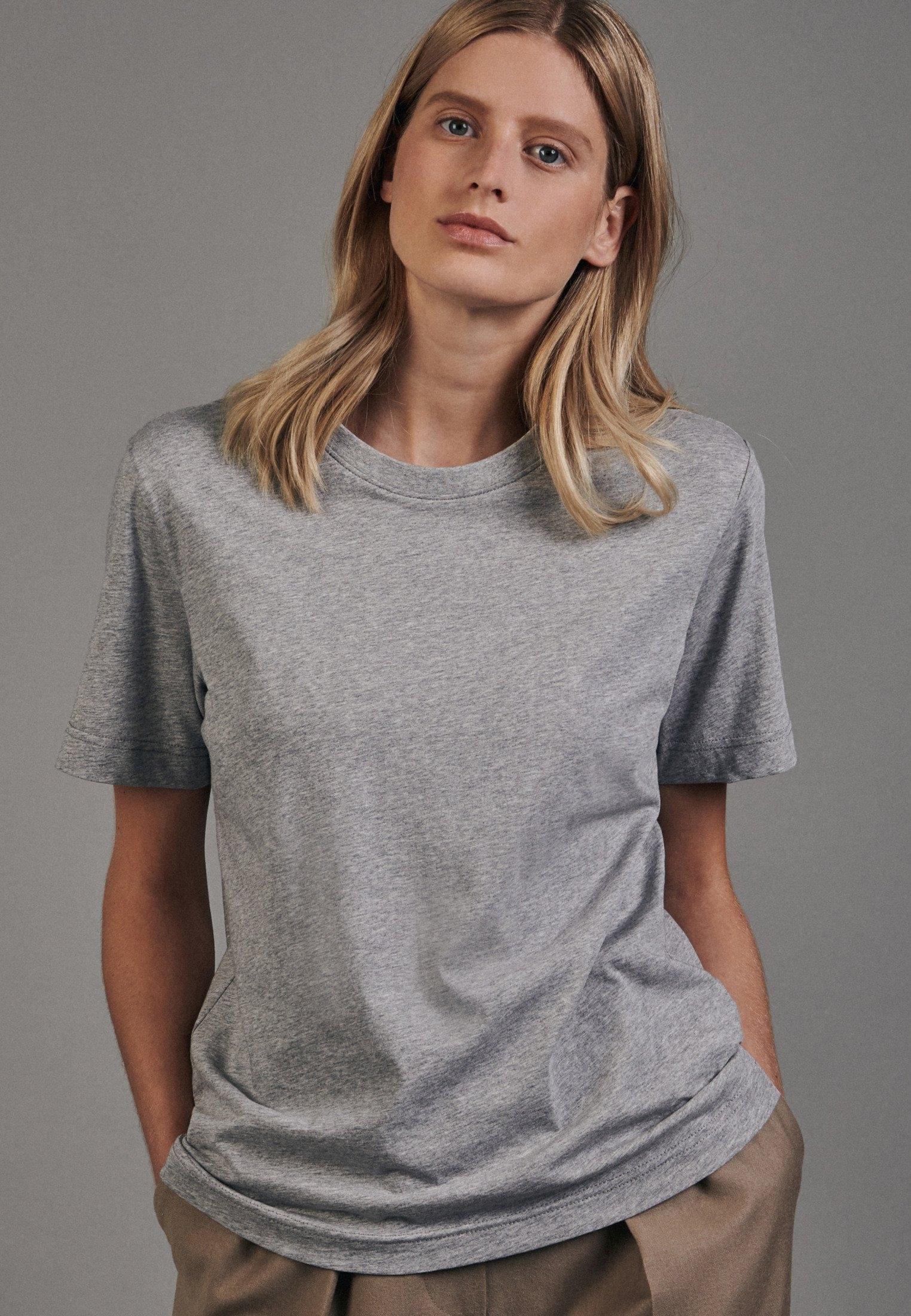 seidensticker T-shirt Korte mouwen ronde hals uni in de webshop van OTTO kopen