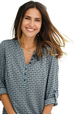 classic basics lange blouse groen