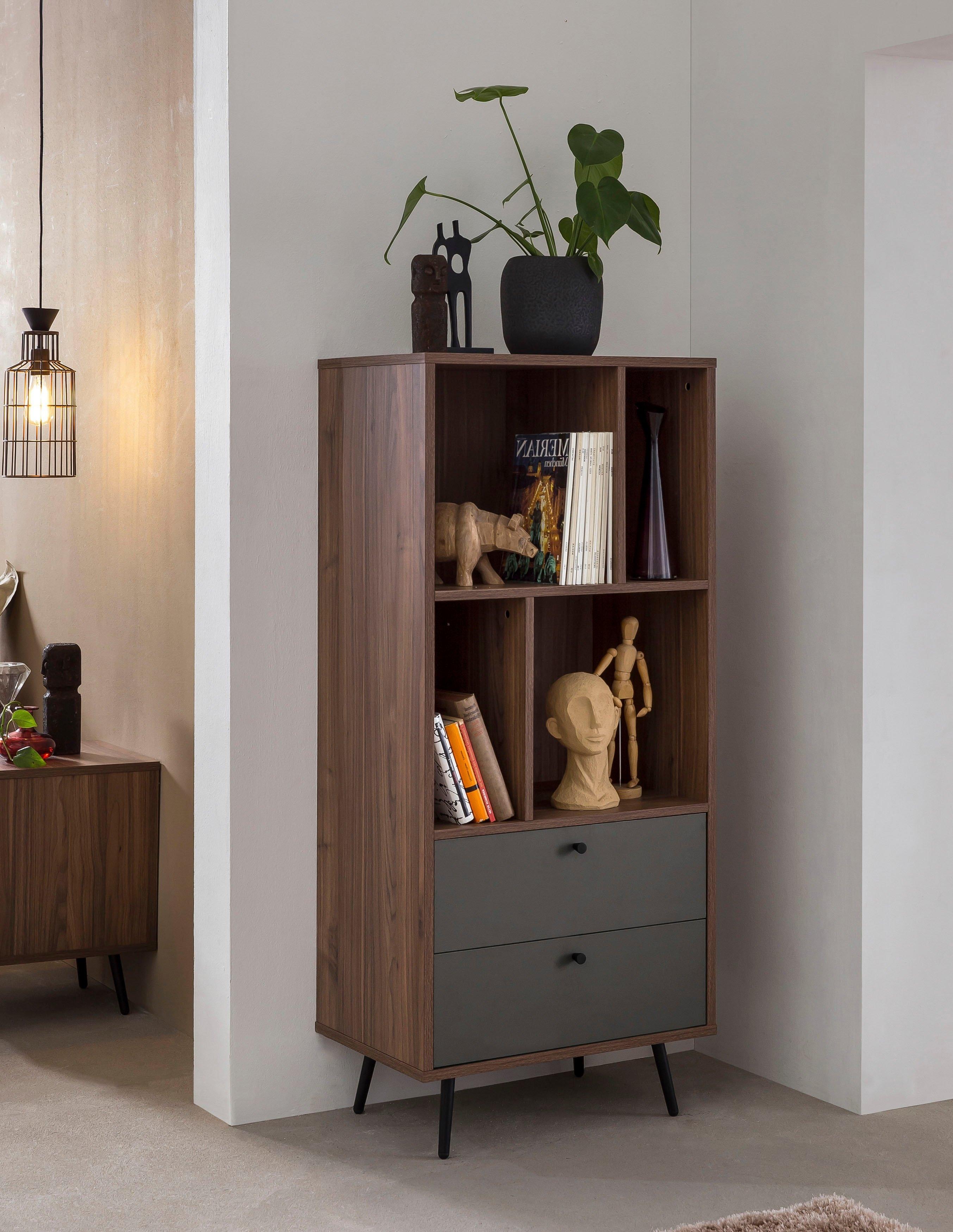 SalesFever boekenkast in moderne walnootkleur veilig op otto.nl kopen