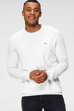 tommy jeans gebreide trui tjm lightweight heather sweater wit